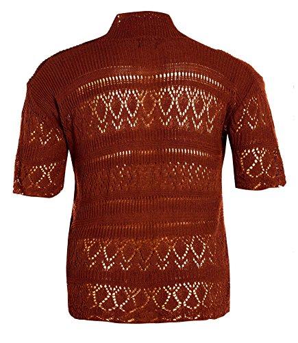 Crochet Pull Long Gilet Taille Hauts Boléro Nouveaux Grande 54 Tricot Rust Femmes 44 wpAqS4g1