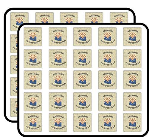 Scottsdale City Arizona USA Grunge Label Art Decor Sticker for Scrapbooking, Calendars, Arts, Kids DIY Crafts, Album, Bullet Journals 50 Pack