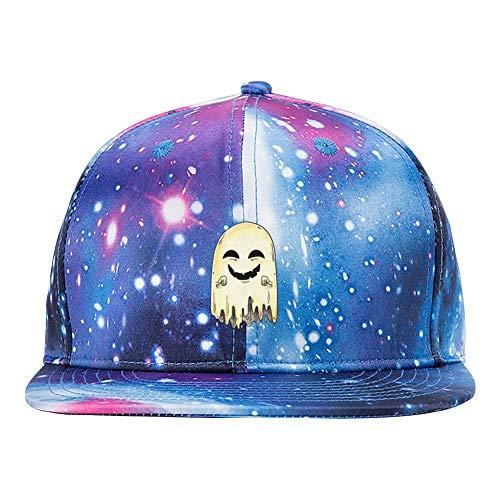ETJIJCKDI Monster Ghost Purple Galaxy Snapback Hat Unisex Trucker Hat Hip Hop Plaid Flat Adjustable Baseball Cap