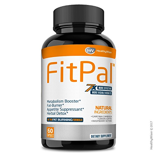 FITPALTM Natural Thermogenic Fat Burner - Energy and Metabolism Booster Pills with Green Coffee, Garcinia Cambogia & Raspberry Ketones. Effective Herbal Detox and Appetite Suppressant