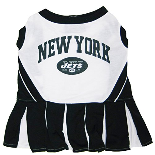 New York Jets NFL Cheerleader Dress for Dogs - Size Small -