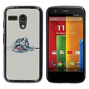 LECELL -- Funda protectora / Cubierta / Piel For Motorola Moto G 1 1ST Gen I X1032 -- Funny Portal Cube --