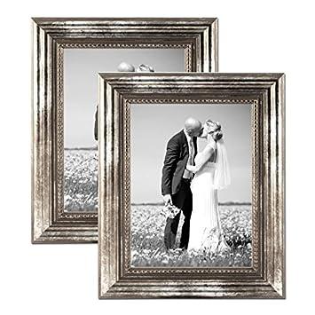 Amazon De Bilderrahmen 21x30 Cm Din A4 Silber Barock Rahmen Antik