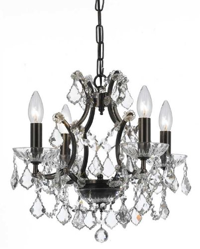Crystorama Filmore 4 Light Crystal Bronze Mini-Chandelier