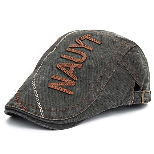 Vintage Flat Cap Cabbie Hut Gatsby Ivy Irish Hunting Newsboy (Armeegrün)