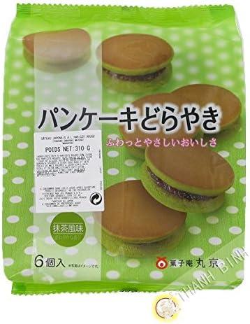 Panqueque de matcha té verde y de frijol rojo Dorayaki Matcha 6pcs MARUKYOU 310g de Japón - Pack de 2 uds: Amazon.es: Alimentación y bebidas