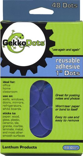 Find Bargain Gekkodots Reusable Adhesive Dots 48 Pk