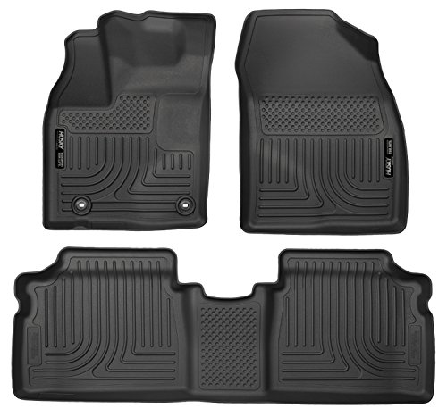 Husky Liners Front & 2nd Seat Floor Liners Fits 2015 Prius Two/Three/Four/Five (Toyota Prius 1 2 3 4 5)