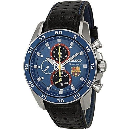 Seiko Seiko Sportura FC Barcelona Cronógrafo Azul Dial Mens Reloj spc089 Hombres de los Hombres de Relojes: Amazon.es: Relojes