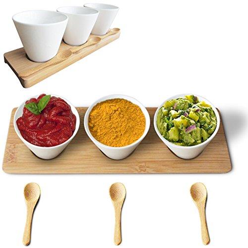 Porcelain Condiment Sauce Dip Bowls Serving Dish - Very C...