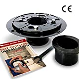 Linear Shower Drain Base (Flange) Bundle - Heavy Duty ABS - UPC Approved Design - 2 Inch No Hub - w/ Free Rubber Gasket, Wrench, & How-To Guide. Ideal for Shower Floor Renovation, DIY Bathroom.