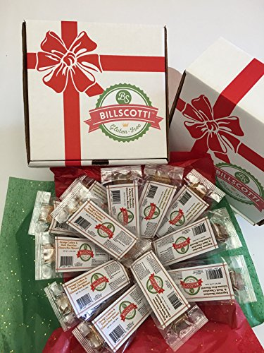BillScotti Gluten-Free Biscotti Variety Gift Package (12 Pieces) (Almond Gluten Free Biscotti)