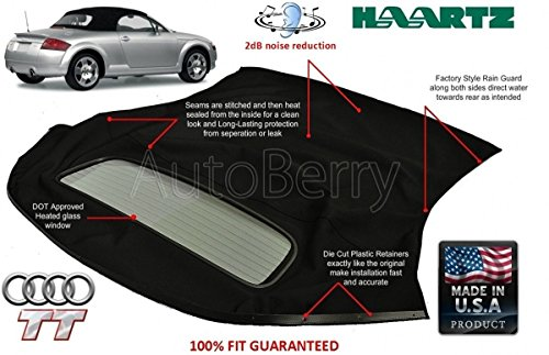 Top With Defroster Glass Window 2000-2006 Black Stayfast Cloth (Stayfast Cloth Material)