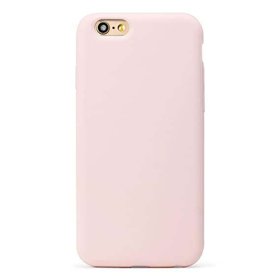 MUNDULEA Compatible iPhone 6 Plus/iPhone 6s Plus Case, Soft TPU Matte Cover Compatible iPhone 6 plus/6s Plus (Light Pink)