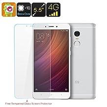 Xiaomi Redmi Note 4 16GB Smartphone - Dual SIM 4G, Android 6.0, Fingerprint Scanner, Deca Core CPU, 2GB RAM, 16GB Memory (White)