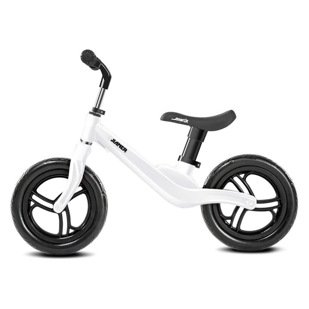 LIWORD Coche del Balance De Los Niños Sin La Bicicleta del Marco De La Aleación del Magnesio De La Aviación De La Vespa del Pedal,White