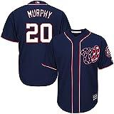 Daniel Murphy Washington Nationals MLB Majestic Youth Navy Alternate Cool Base Replica Player Jersey