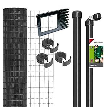Fix-Clip Pro Zaun im Set zum Einbetonieren (Höhe: 80 cm x Länge: 25 ...