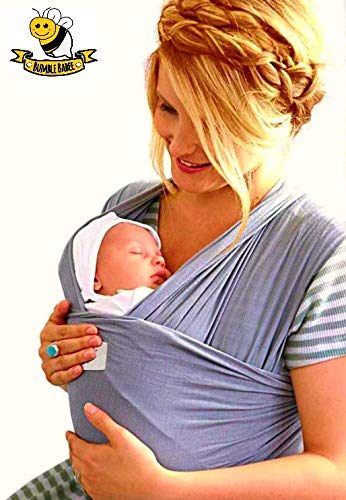 Bumble Babee - Baby Wrap Carrier & Breastfeeding Sling Holder - for Babies, Infants, Newborns, Toddlers Up to 35lbs - Breathable, Light Weight, Sturdy Cotton Baby Shower Gift - 3 Color Options