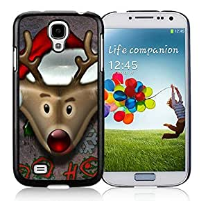 Custom Samsung S4 TPU Protective Skin Cover Christmas Deer Black Samsung Galaxy S4 i9500 Case 4