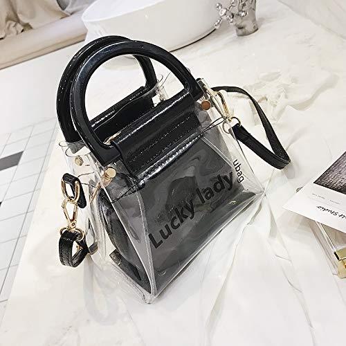 du Fille Bag Messenger bandoulière Version Main Sac Noir nbsp;Chao coréenne Sac à à Transparent Sauvage WSLMHH B76xtwqn