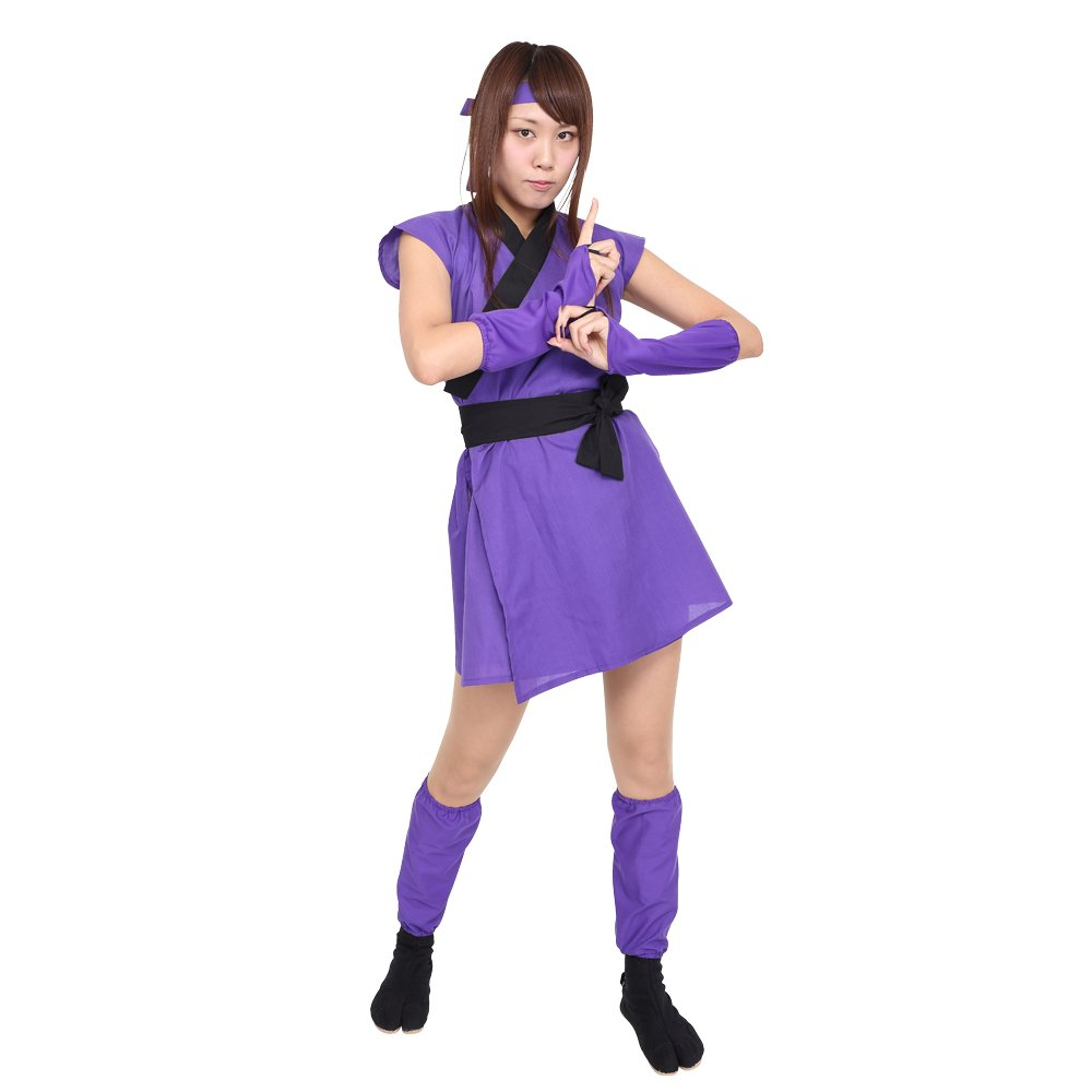 Amazon.com: patymo hembra japonés Ninja Adulto Disfraz – -XS ...