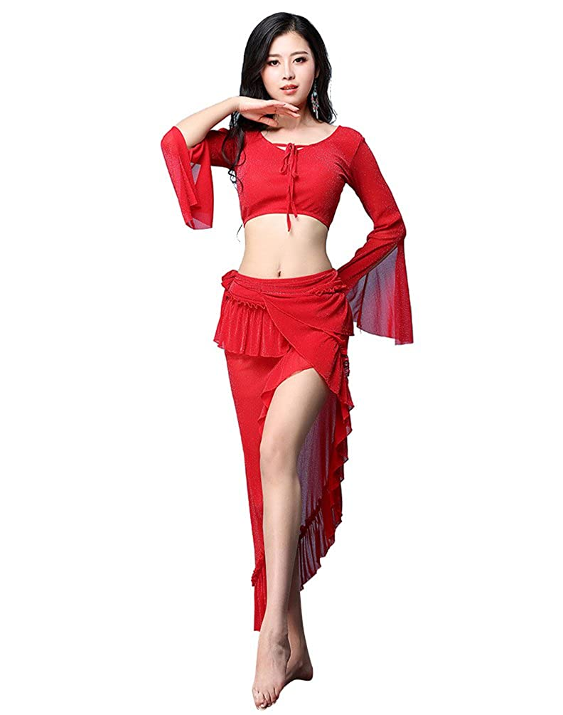YiJee Donna Belly Dance Set Abbigliamento del Danza del Ventre Costume del performante