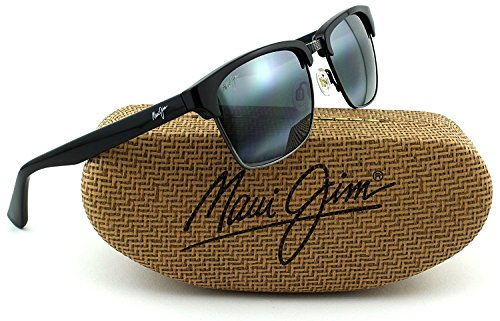 Maui Jim KAWIKA Unisex Polarized Sunglasses (Black Gloss with Antique Pewter Frame, Neutral Grey Lens - Maui Jim Sunglasses Sale