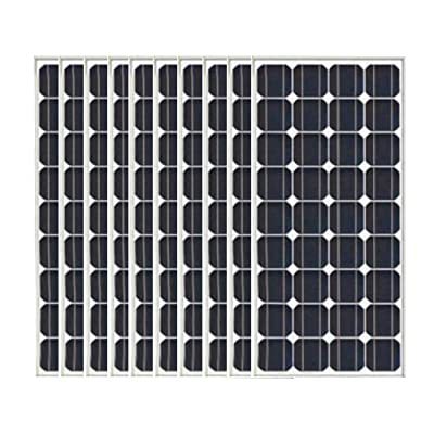 RISING 10x100W Monocrystalline Solar Panel,total 1000w