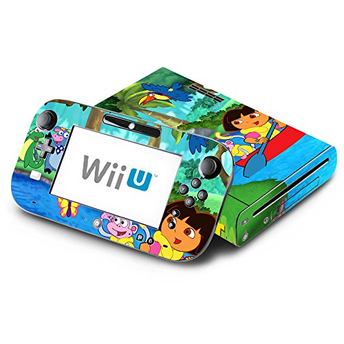Dora the Explorer and Boots Decorative Decal Cover Skin for Nintendo Wii U Console and GamePad