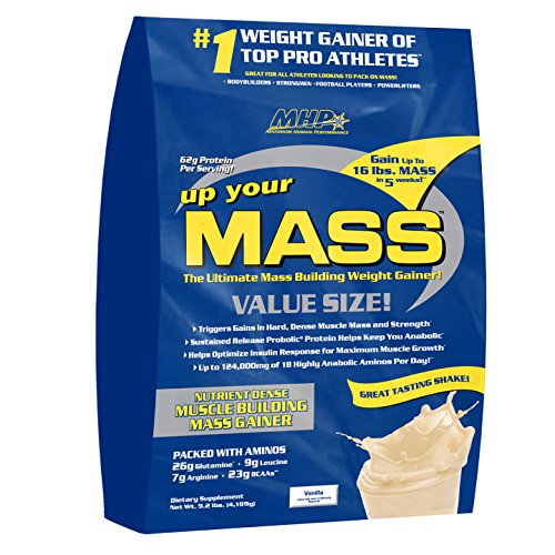 MHP, Up Your Mass Weight Gainer,Vanilla, 9.2 lbs (Discontinued)