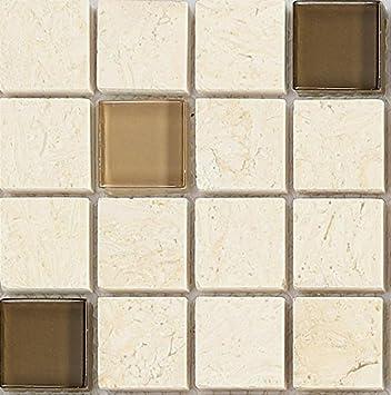 10x10cm Muster Glas Und Naturstein Mosaik Fliesen Muster In Braun