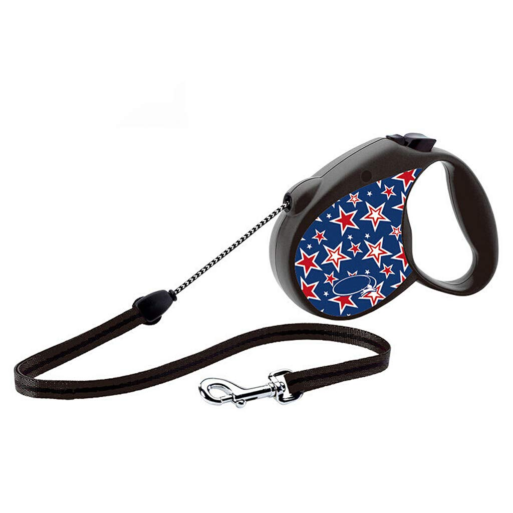Star Retrecactable Dog Leash 5m Dog Walking Leash for Medium Large Dogs Up to 111lbs Tangle Free One Button Break &L Lock (Colore: Star)