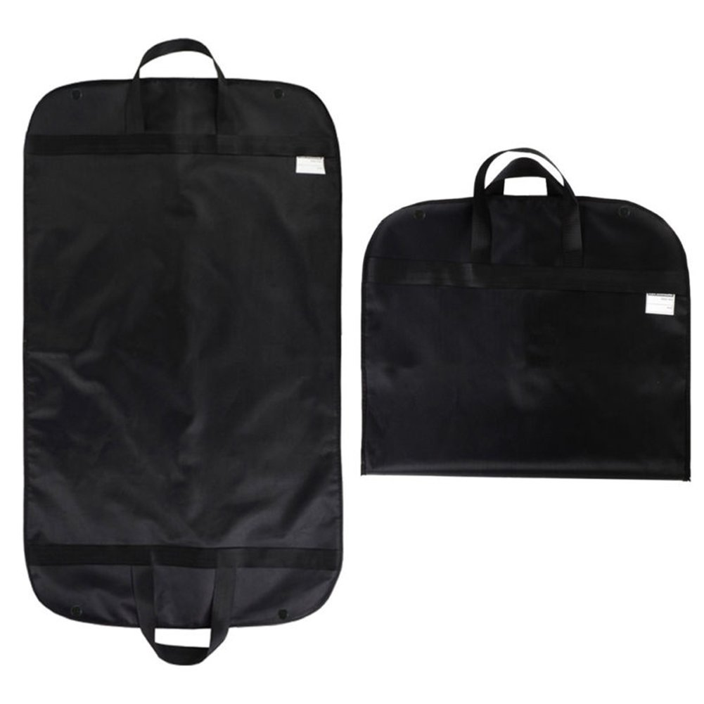 Breathable Travel Garment Bag,Portable Waterproof Suit Covers Carrier Bag Hanging Cloth Cover with Handle 60x100cm(60x100cm,Black) by INLAR (Image #1)