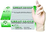 GREAT GLOVE 20010 fit-M-BX Latex Industrial Grade Glove, 4.5 -5 mil, Powder-Free, Textured, Food Safe (FDA 21 CFR 170-199), General Purpose, Medium (Pack of 100)