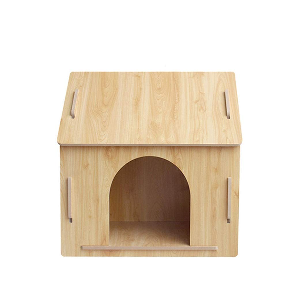 A L A L Wooden Kennel Four Seasons Available Pet Villa Large Medium and Small Pet Outdoor Kennel 2 Styles Can Choose (color   A, Size   L)