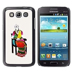 Be Good Phone Accessory // Dura Cáscara cubierta Protectora Caso Carcasa Funda de Protección para Samsung Galaxy Win I8550 I8552 Grand Quattro // Middle Ages on chair