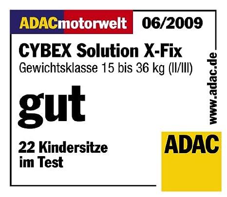 Pure Black Kollektion 2018 15-36 kg Cybex Silver Solution X-fix Autositz Gruppe 2//3 mit Isofix