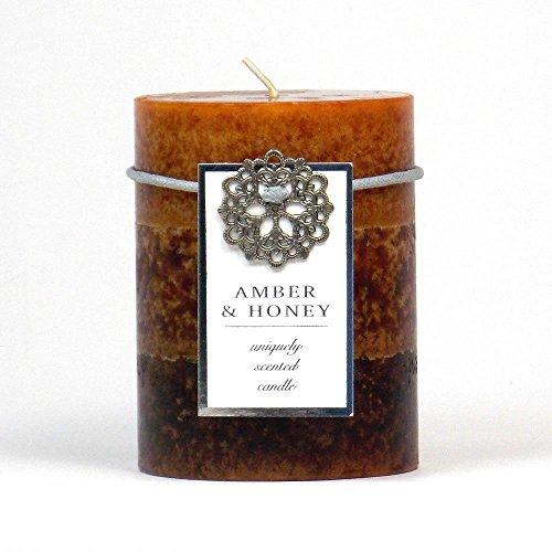 Aero Caramel - Sunshine Megastore Amber & Honey Pillar Candle 3X4