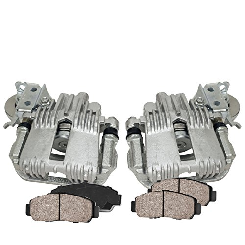 - COEK01487 [2] REAR Premium Loaded OE Caliper Assembly Set + Quiet Low Dust Ceramic Brake Pads