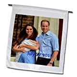 Cheap 3dRose fl_159787_1 Prince William Kate and Baby Makes 3 Garden Flag, 12 by 18-Inch