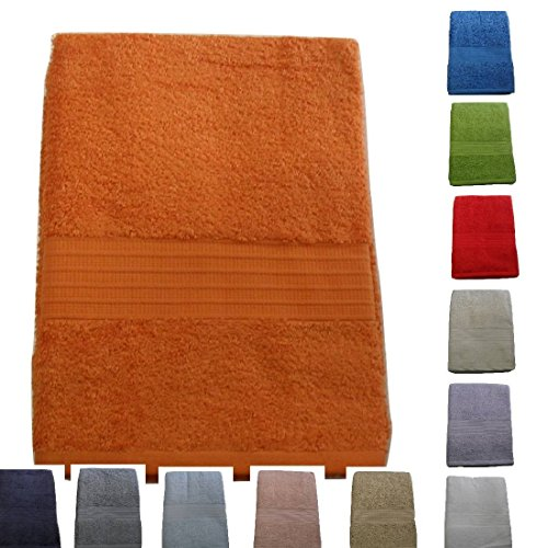 Toalla baño grande cm 90 x 160 Toalla Bassetti Time 100% Esponja de puro algodón peinado 430 gr/sqm ROSSO 1139: Amazon.es: Hogar