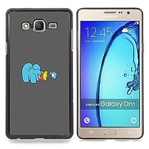"""Qstar Arte & diseño plástico duro Fundas Cover Cubre Hard Case Cover para Samsung Galaxy On7 O7 (Hielo divertido Cream Machine"""")"""