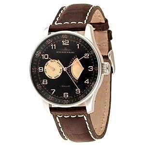 Zeno-Watch Mens Watch - X-Large Retro Day Date Retrograde - P592-g1