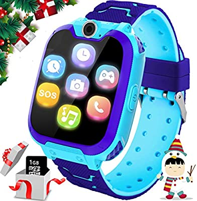 YENISEY Kids Smart Watch for Boys Girls - HD Touch Screen Sports Smartwatch Phone with Call Camera Games Recorder Alarm Music Player for Children Teen ...