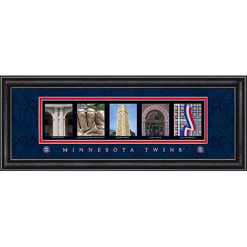 Minnesota Twins Framed Wall (Prints Charming Letter Art Framed Print, Minnesota Twins-Twins, Bold Color)
