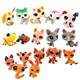 Mini Doll Lot Of 5 Pcs Random Littlest Pet Shop Dog Cat Figure Child Girls Toys Size About 4-6cm For Christmas Birthday Valentine's Day Gift Brand New