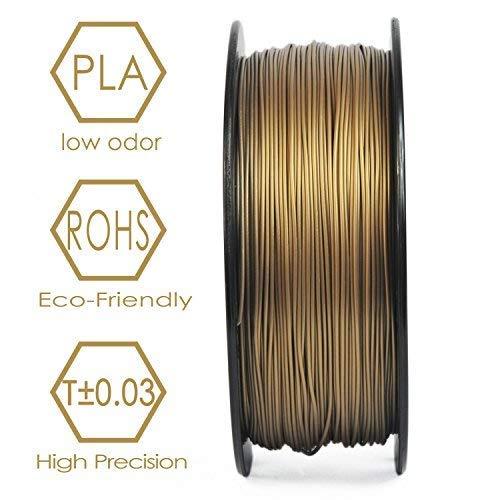 3D BEST-Q PLA 1.75mm Red Copper(more like khaki) 3D Printer Filament, Dimensional Accuracy +/- 0.03 mm, 1KG Spool, Red Copper