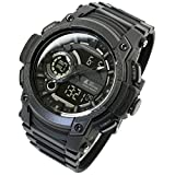 [LAD Weather] Triple time/100m Water Resistance/Analog Digital Display/Military Watch