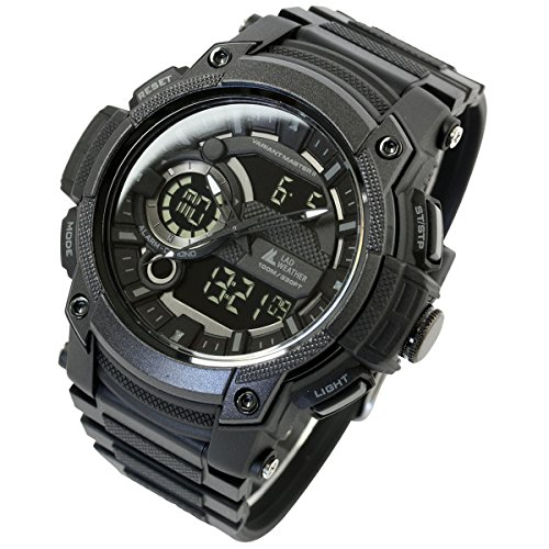 [LAD Weather] Triple time/100m Water Resistance/Analog Digital Display/Military Watch by LAD WEATHER